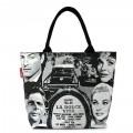 Молодёжная сумка с чёрно-белым принтом