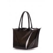 Прозрачная сумка чёрного цвета с клапаном