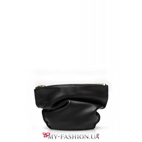 Чёрный клатч-косметичка от украинского производителя