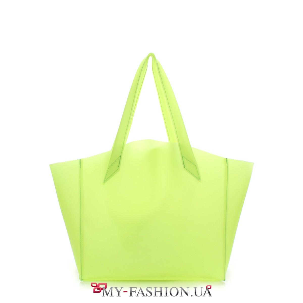 609ab1c0c20e Прозрачная сумка с салатовым оттенком купить в интернет магазине в ...