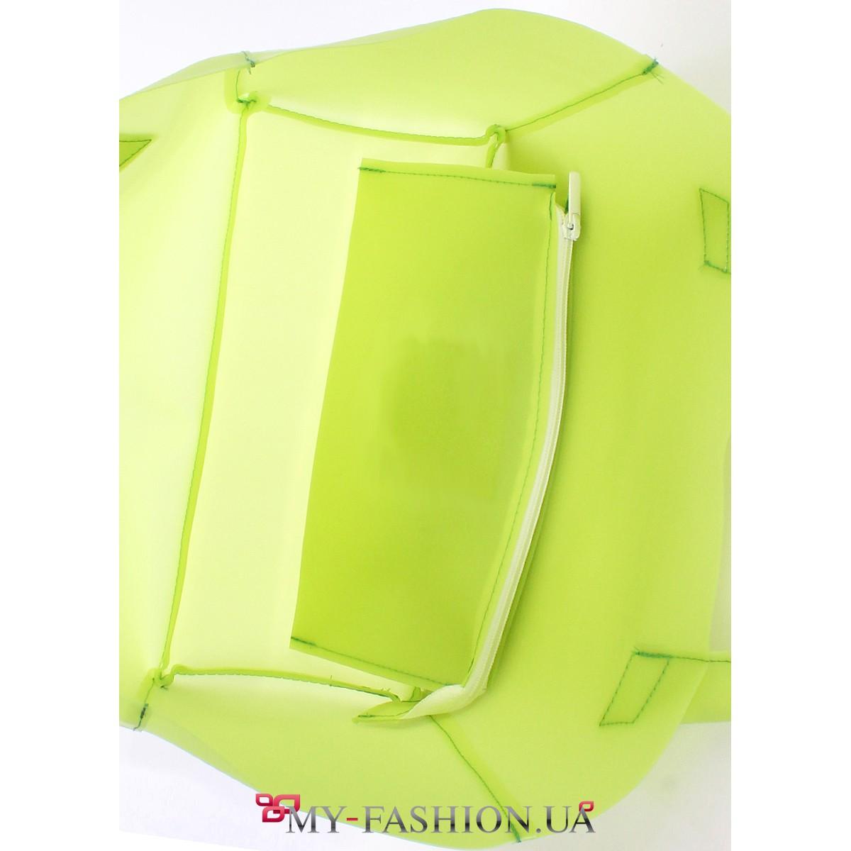 bfe2bf8eb94d Прозрачная сумка с салатовым оттенком · Прозрачная сумка с салатовым  оттенком ...
