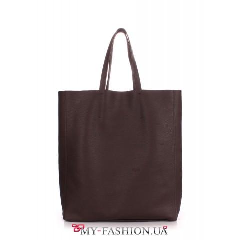Универсальная кожаная сумка без подкладки