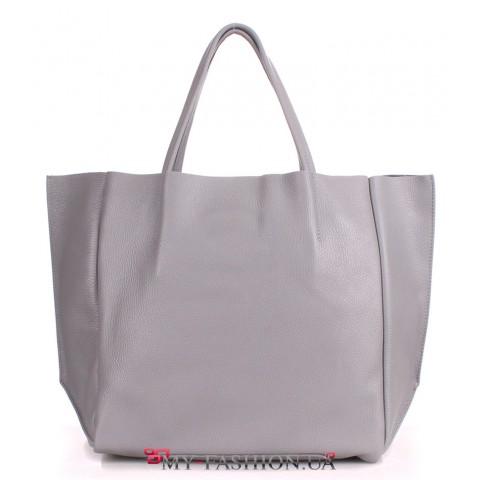 Женская сумка светло-серого цвета