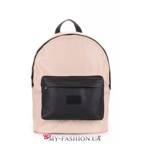 Комбинированный рюкзак с накладным карманом