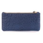 Женский классический кошелёк насыщенного синего цвета