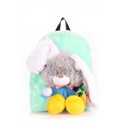 Детский рюкзак с крупной мягкой игрушкой