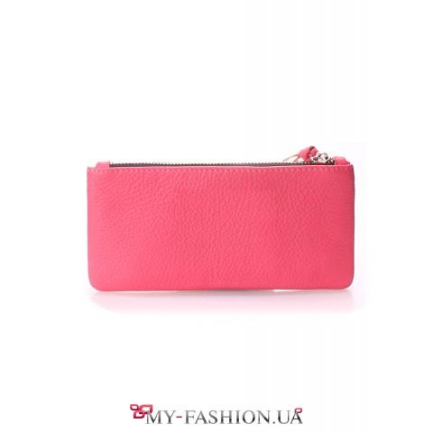 Дизайнерский кошелёк нежно-розового цвета