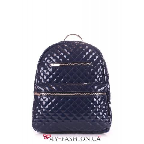 Стильный прошитый рюкзак из искусственной кожи