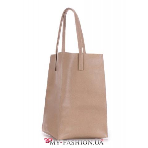 Лаконичная сумка-мешок оригинального кроя