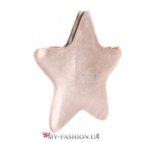 Кожаный клатч - косметичка STAR