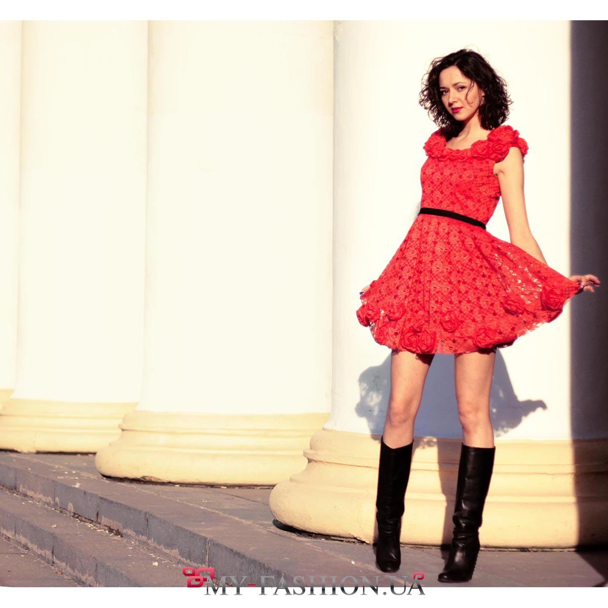Платья юбки из гипюра купить