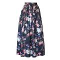 Длинная юбка из цветного хлопка с карманами