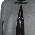 Женское пончо из тёплой костюмной ткани