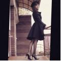 Чёрное пальто из неопрена на подкладке