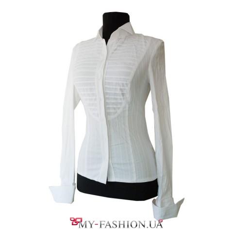 Блуза-рубашка с длинным рукавом