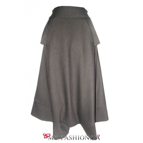 Бриджи- юбка на широком поясе- кокетке