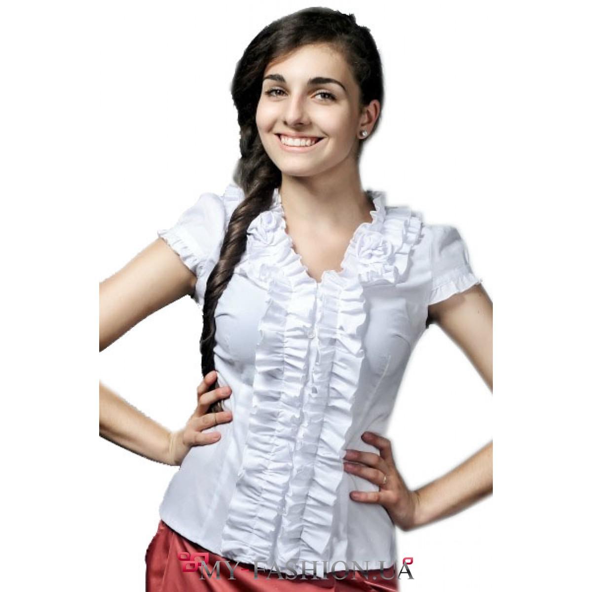 Купить Красивую Белую Блузку С Доставкой