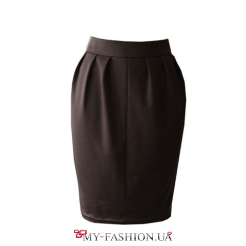 Короткая юбка из плотного трикотажа остался 44 размер
