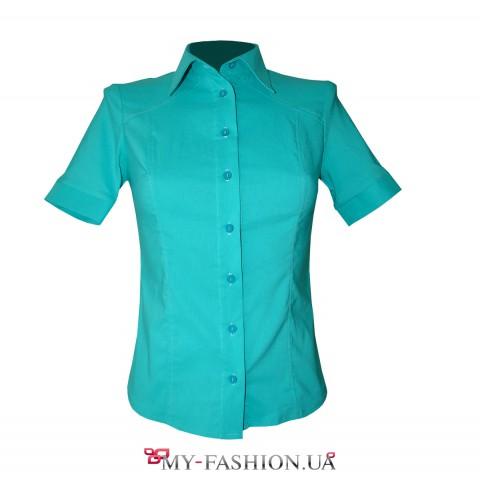 Классическая женская рубашка цвета мяты