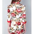 Стильный пиджак с ярким цветочным принтом