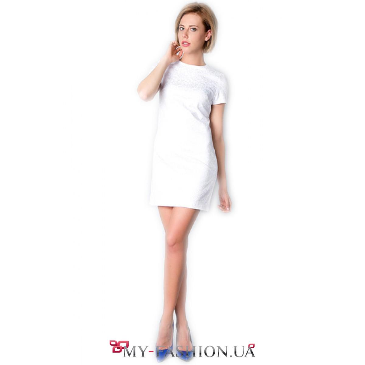 Платье с коротким рукавом доставка