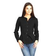 Рубашка чёрного цвета под пояс