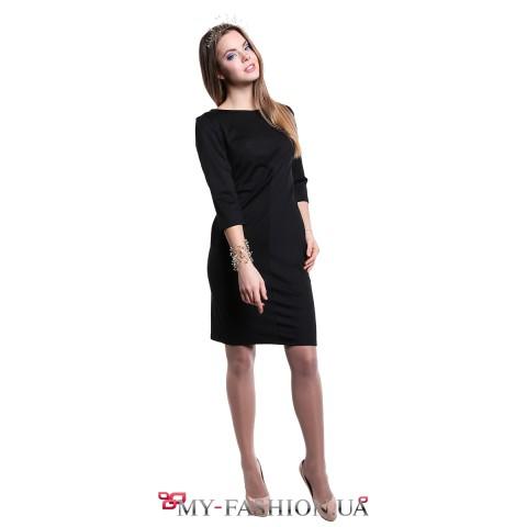 Классическое платье-футляр чёрного цвета