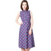 Летнее клетчатое платье из натурального хлопка