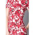 Короткое приталенное платье с пышной юбкой