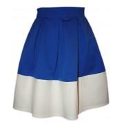 Комбинированная юбка из жаккардового трикотажа