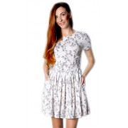 Короткое льняное платье с открытой спиной