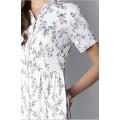 Длинное платье-рубашка молочного цвета
