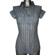 Рубашка для женщин в аккуратную клеточку