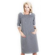 Жаккардовое платье с удобными карманами