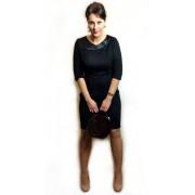 Приталенное черное платье из итальянского дайвинга