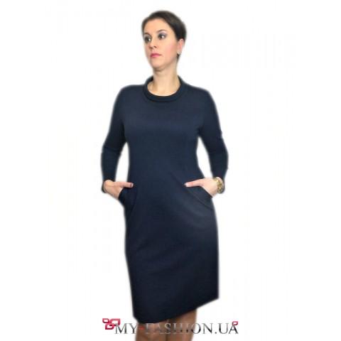 Платье-футляр из французского трикотажа в наличии  с 52 размера