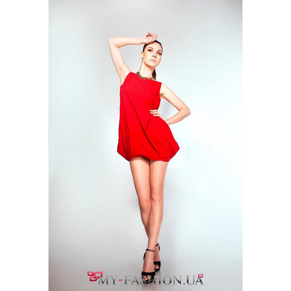 Красное платье мини фото