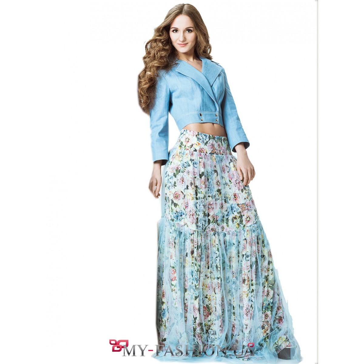 Длинные юбки дизайнерская