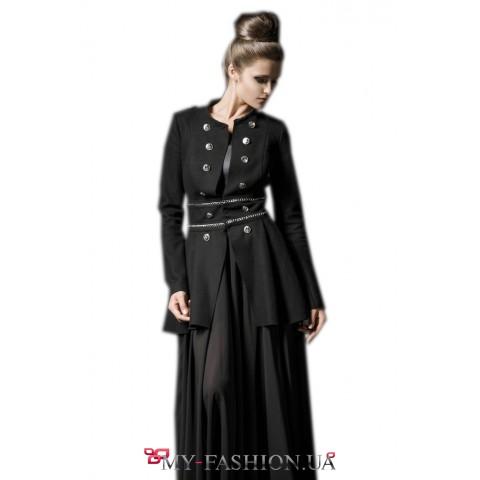 Женственное пальто из валяной шерсти