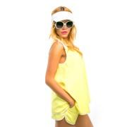 Пляжный костюм лимонного цвета