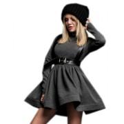 Дизайнерское платье серого цвета