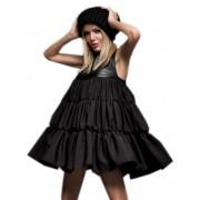 Стильное хлопковое платье с короткой юбкой