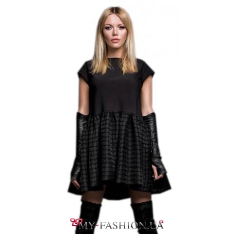 Восхитительное коктейльное платье черного цвета