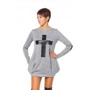 Привлекательное платье-туника серого цвета