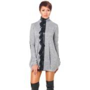 Очаровательное платье-туника серого цвета