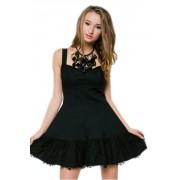 Коктейльное платье с эффектными кружевными  элементами