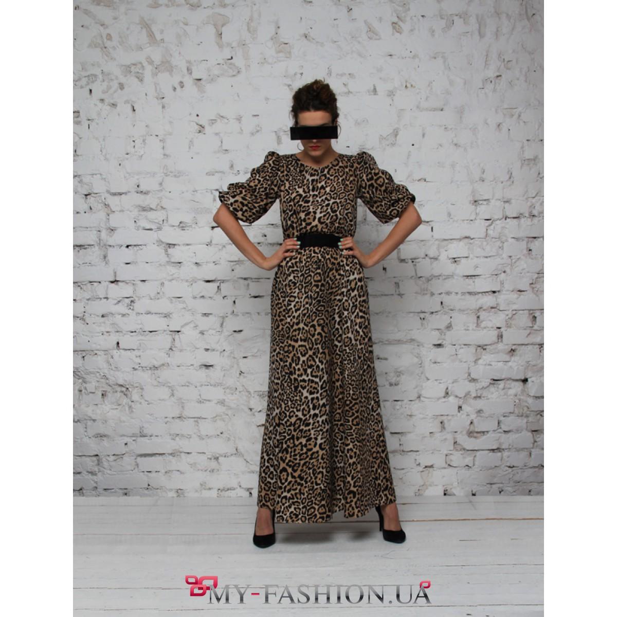 Леопардовое Платье Длинное Купить В