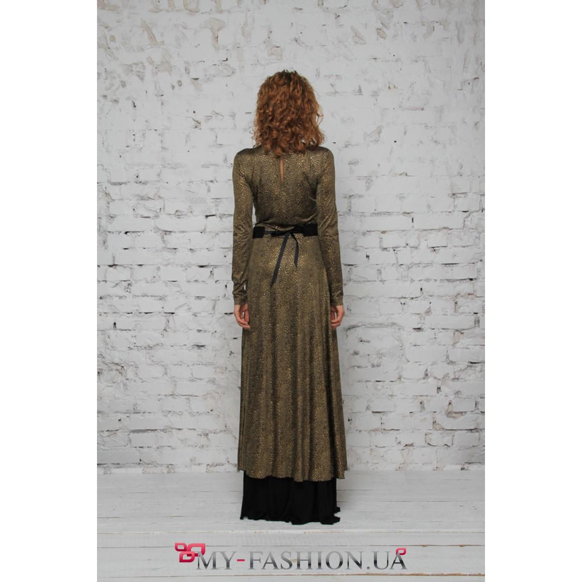 Платье с двойной юбкой купить
