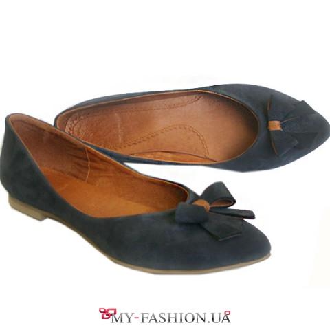 Женские туфли-лодочки из натурального нубука