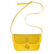 Жёлтая женская сумка из натуральной кожи